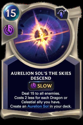Aurelion Sol's The Skies Descend Card Image