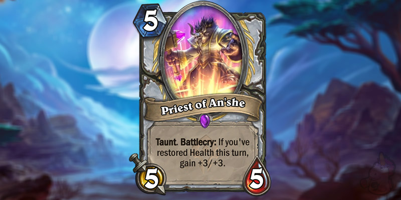 Tars Reveals a New Forged in the Barrens Priest Card - Priest of An'she