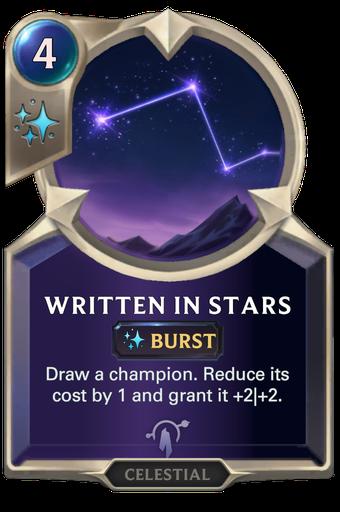 Written in Stars Card Image