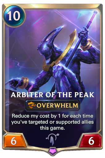 Arbiter of the Peak Card Image