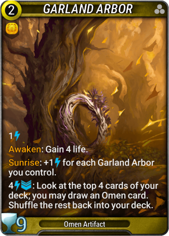 Garland Arbor Card Image