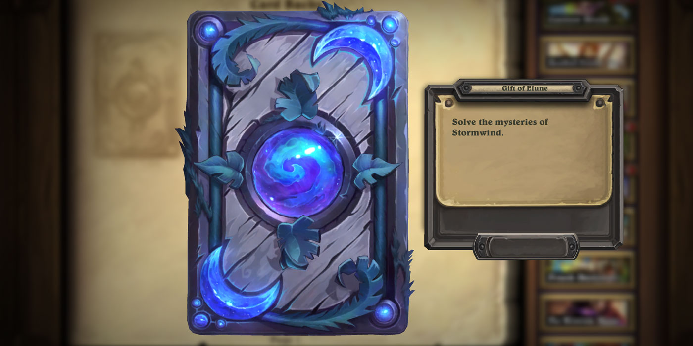"""Solving the """"???"""" Gift of Elune Card Back Achievement in Hearthstone - Solve the Stormwind Mysteries"""