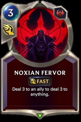 Noxian Fervor Card Image