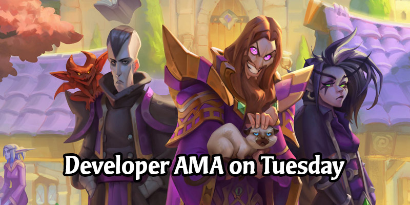 Hearthstone Developer AMA Happening Next Week - Tuesday, August 11
