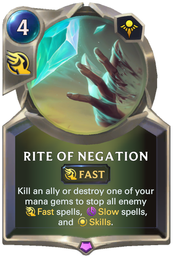 Rite of Negation Card Image