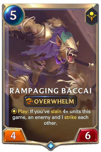 Rampaging Baccai Card Image