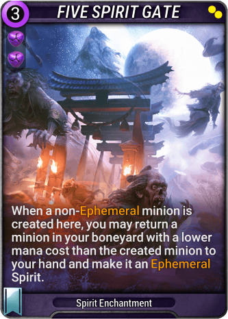 Five Spirit Gate Card Image