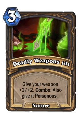 Deadly Weapons 101 Card Image