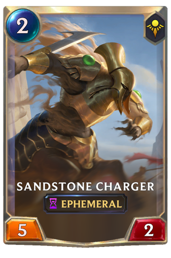 Sandstone Charger Card Image