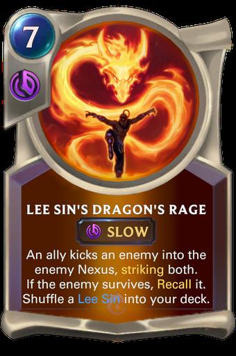 Lee Sin's Dragon's Rage Card Image