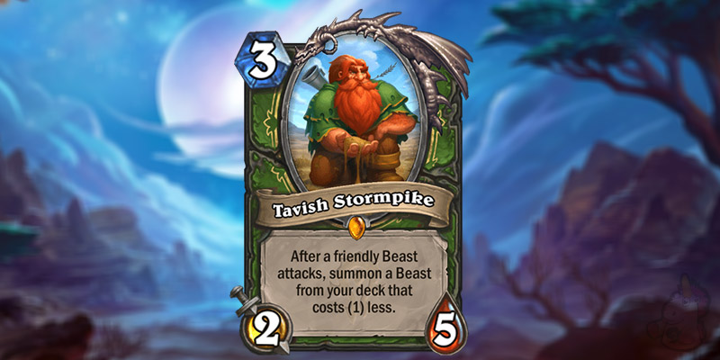 Firebat Reveals a New Forged in the Barrens Legendary Hunter Card - Tavish Stormpike