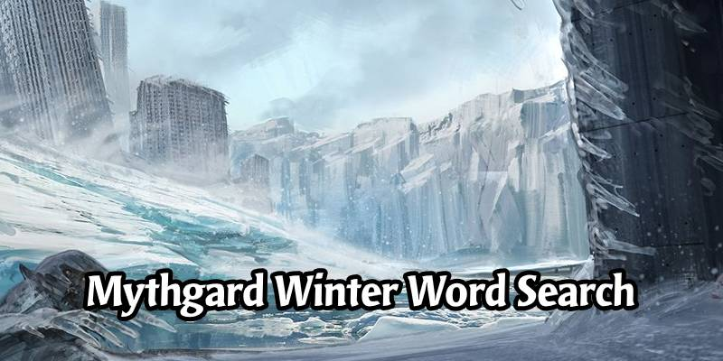 A Wonderful Mythgardian Winter Wonderland Word Search Activity