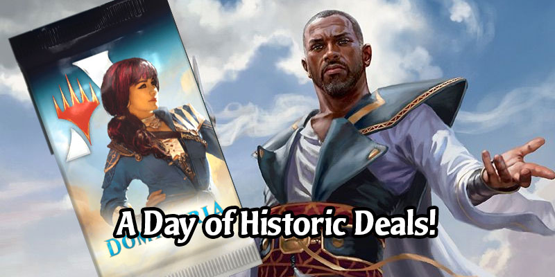 70% Off A Dominaria Pack, 75% Off 10 Non-Standard Card Styles - Historic Daily Deals for May 10