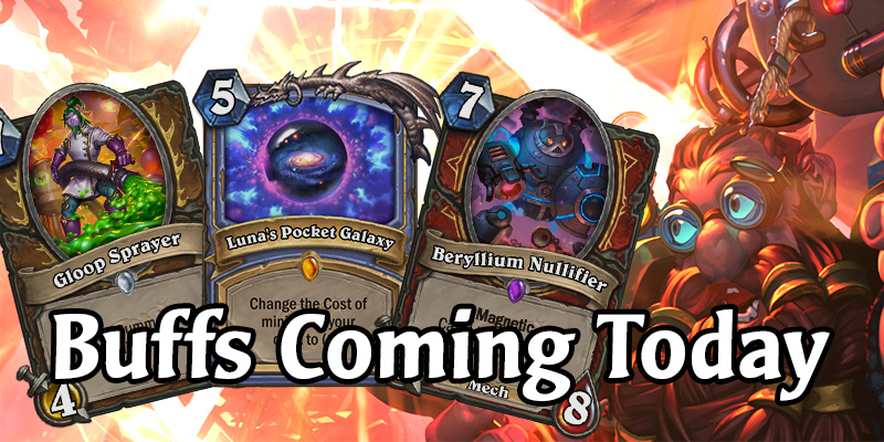 Reminder: The First Ever Card Buffs Arrive This Week! Prepare for Mechs!