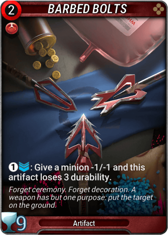 Barbed Bolts Card Image