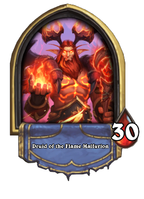 Druid of the Flame Malfurion Card Image