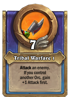 Tribal Warfare 1 Card Image
