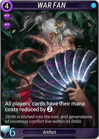 War Fan Card Image