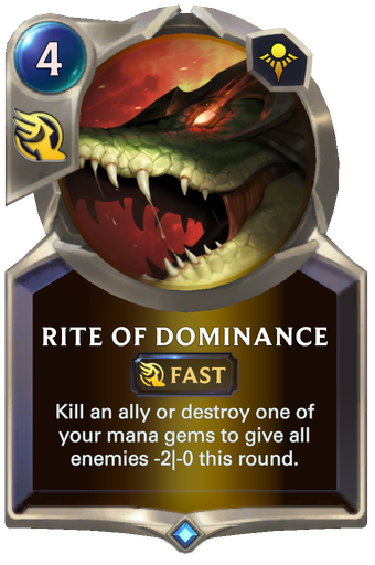 Rite of Dominance Card Image