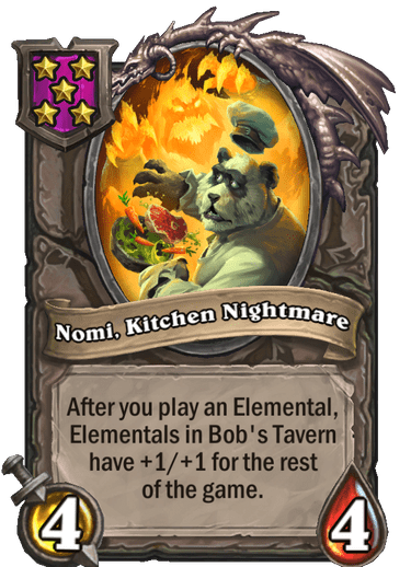 Nomi, Kitchen Nightmare Card Image