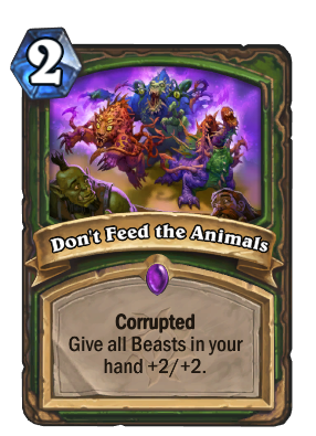 Don't Feed the Animals Card Image