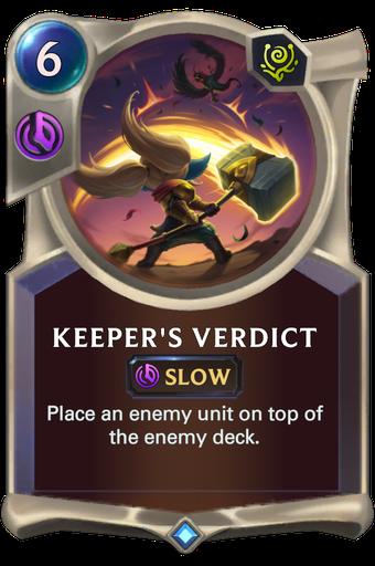 Keeper's Verdict Card Image