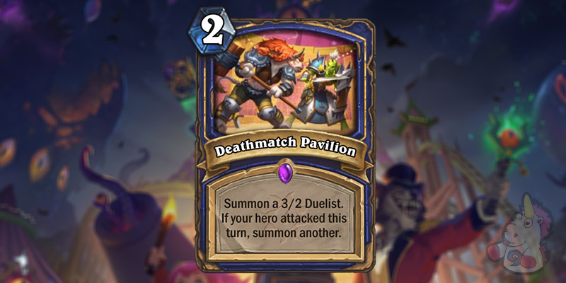 Deathmatch Pavilion is a New Shaman Card Revealed for Hearthstone's Darkmoon Faire Expansion