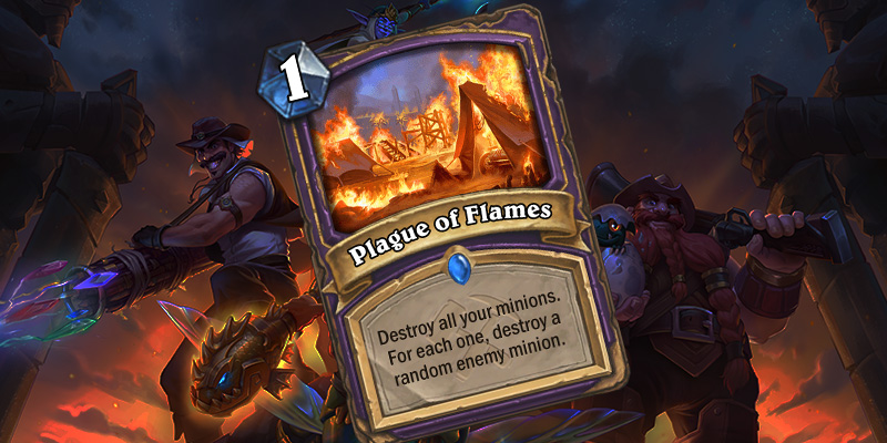 Uldum Warlock Card Reveal - Plague of Flames