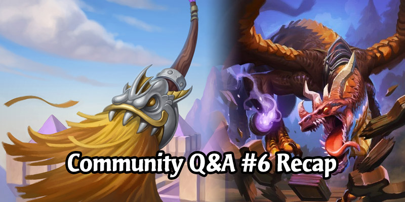 Dean Ayala's Community Q&A #6 - Reworking Starting Experience, Shadow Priest, Commander/EDH, New Rogue Hero This Year