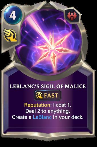 LeBlanc's Sigil of Malice Card Image