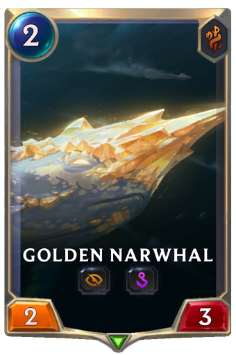 Golden Narwhal Card Image