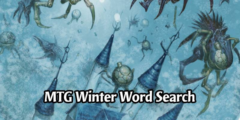 A Wonderful MTG Winter Wonderland Word Search Activity