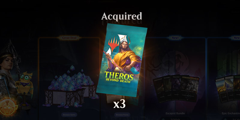 Want Free Magic Arena Card Packs? Get Three Free Theros: Beyond Death Packs!