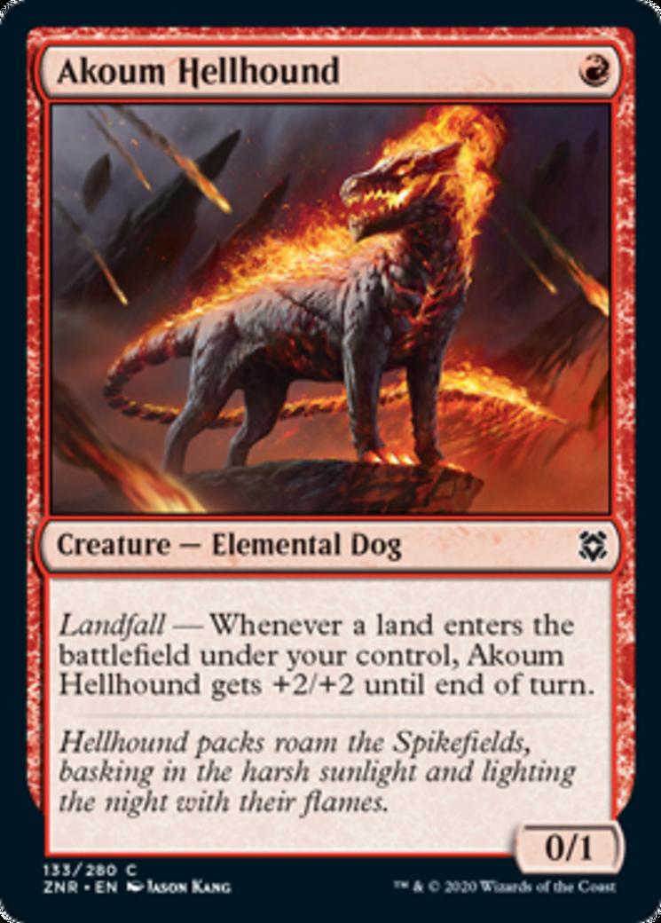 Akoum Hellhound Card Image