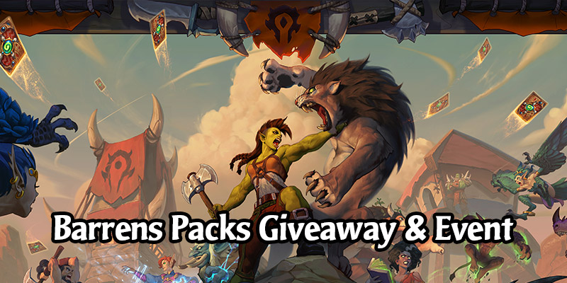 Out of Cards Forged in the Barrens Card Pack Giveaway - Packs Provided by Blizzard