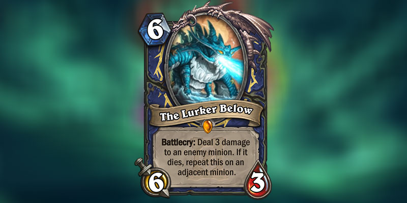 The Lurker Below is a new Shaman Legendary Revealed for Hearthstone's Ashes of Outland Expansion