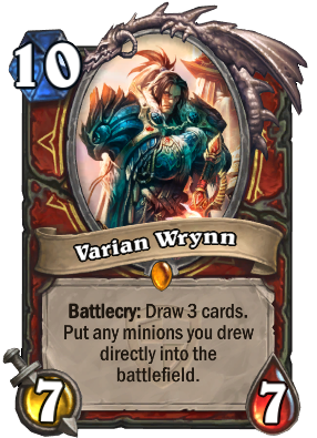 Varian Wrynn Card Image