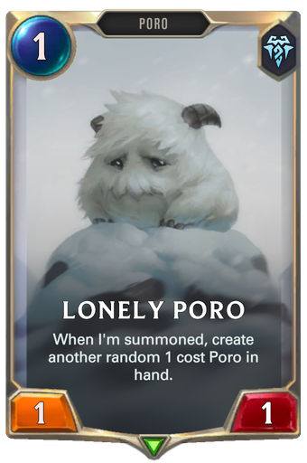 Lonely Poro Card Image