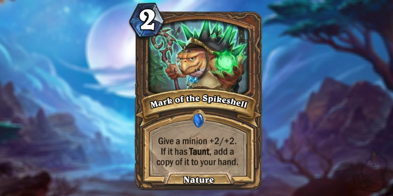 HeiGe Reveals a New Forged in the Barrens Druid Card - Mark of the Spikeshell