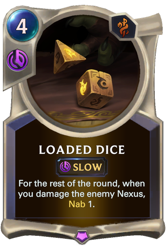 Loaded Dice Card Image