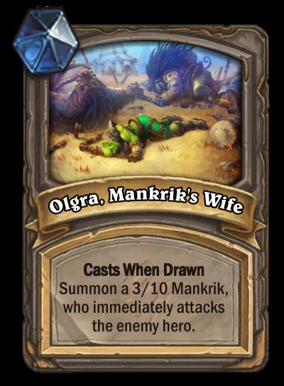 Olgra, Mankrik's Wife Card Image