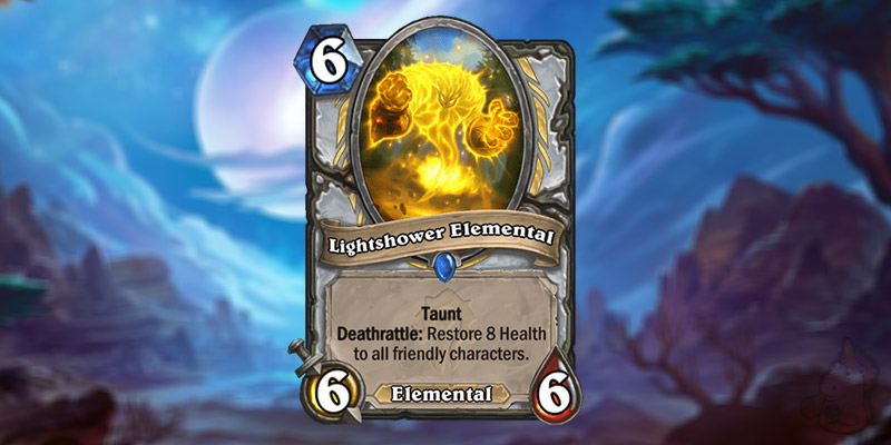 LaoZhongYi Reveals a New Forged in the Barrens Priest Card - Lightshower Elemental