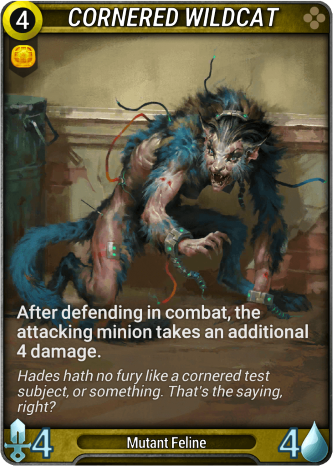 Cornered Wildcat Card Image