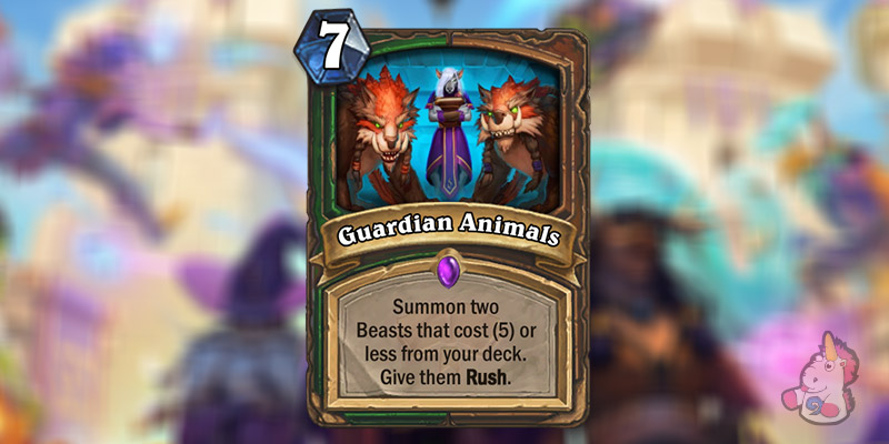 Guardian Animals is a New Hunter & Druid Card Revealed for Hearthstone's Scholomance Academy Expansion