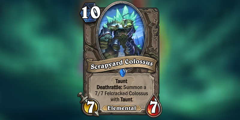 Scrapyard Colossus is a new Card Revealed for Hearthstone's Ashes of Outland Expansion