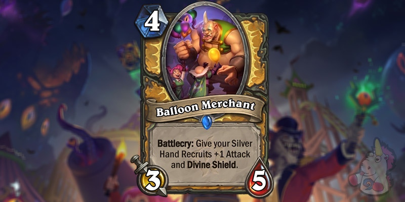 Balloon Merchant is a New Paladin Card Revealed for Hearthstone's Darkmoon Faire Expansion