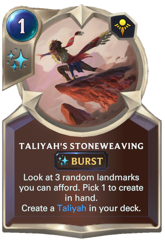 Taliyah's Stoneweaving Card Image