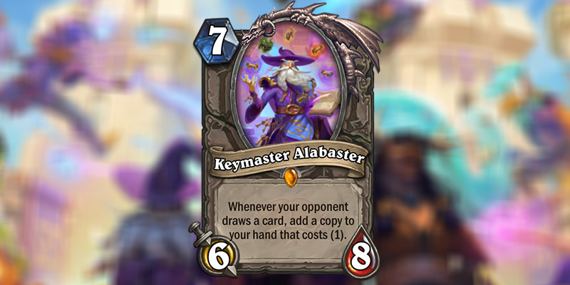 Keymaster Alabaster is a New Legendary Card Revealed for Hearthstone's Scholomance Academy Expansion