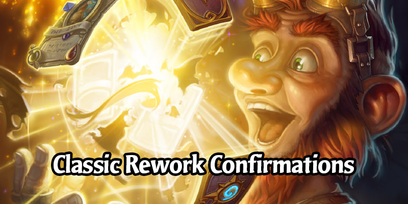 Hearthstone's Classic Set Rework Will Include Some New Cards, Some Old Cards, and Rebalancing of Other Cards