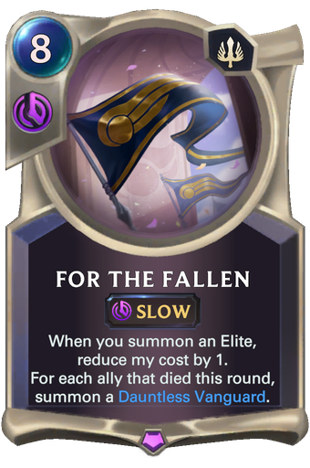For The Fallen Card Image